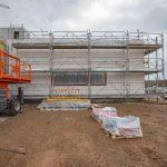 Le chantier d'ITE du lycée Simone Veil à Gignac