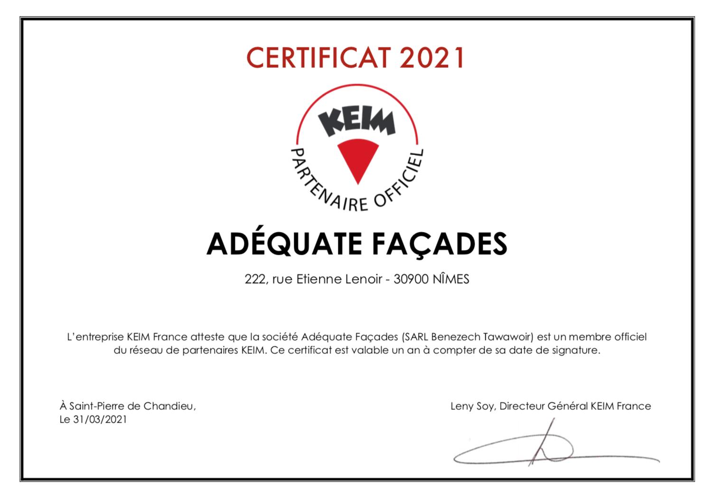 Partenaire officiel KEIM